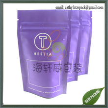 3g small stand up zip top tea bag package