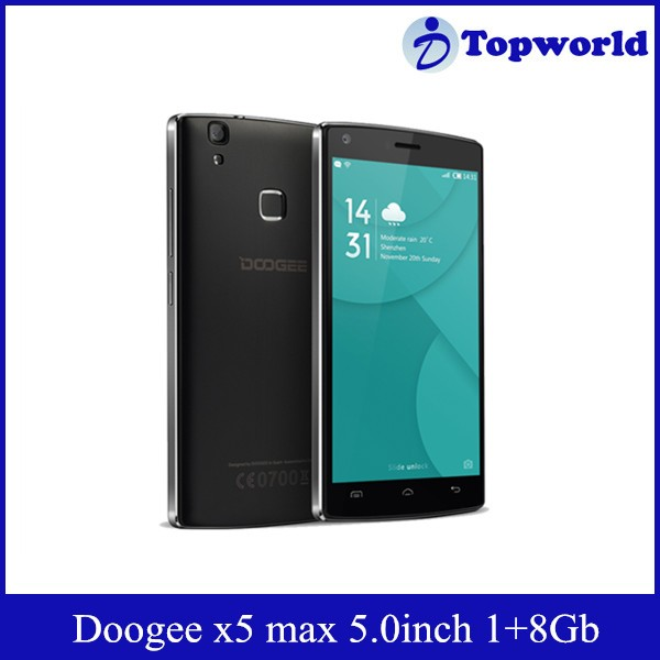 Factory Price Hot Selling 5.0inch MTK6580 Android6.0 Support Wifi GPS 8+8mp Camera Smartphone Doogee X5 max