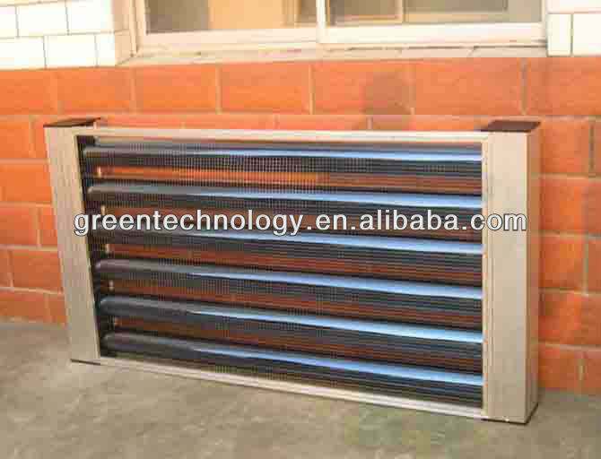CE Approved 20 Tubes Compact Pressurized Heat Pipe Vacuum Tube Solar Heating Panel For Hot Water