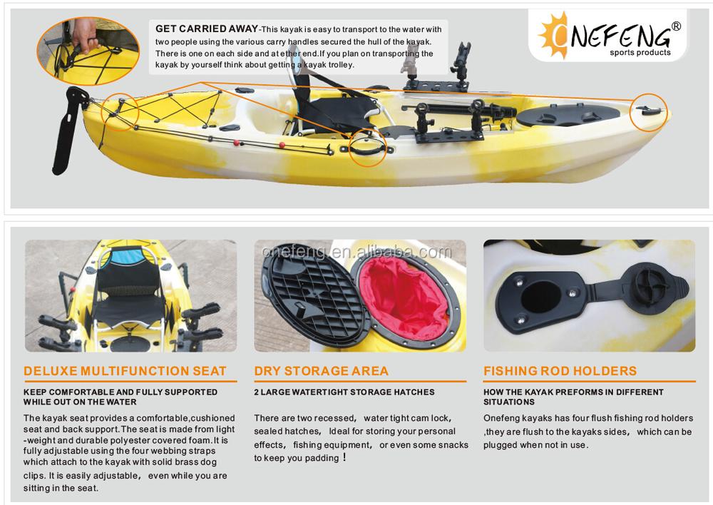 Onefeng 2016 fishing sea kayak buy sea kayak kayak for Fishing kayak brands