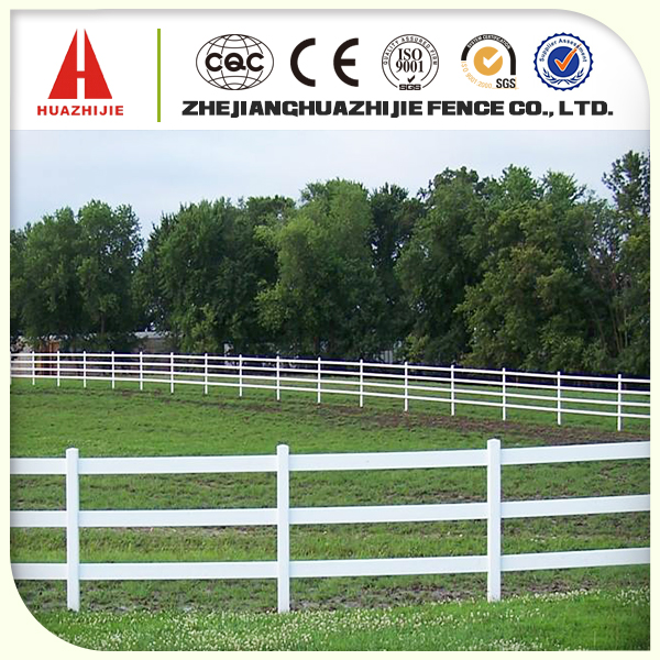 Supply composite 3 rail fence used for horse