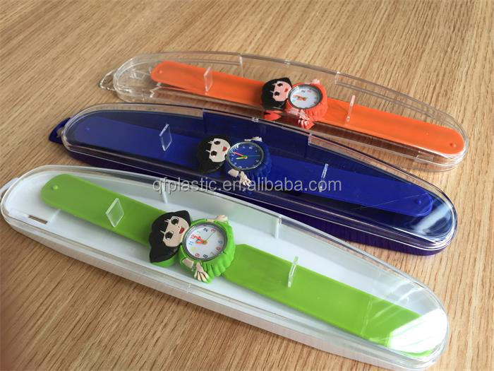 Custom transparent plastic Watch case, watch gift packaging box