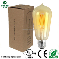 Cheaper factory supply E27 2016 Top sale NEW LED Vintage Filament Bulb ST64 8W for high lumen 25000 hours