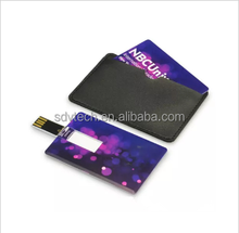 2017 Super Thin Credit Card Shape custom usb flash drive 1GB-64GB with free logo