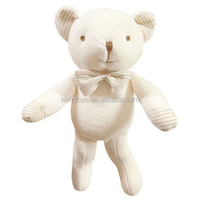 No Dyeing Natural Organic Cotton Safty Baby First Doll Infant toy