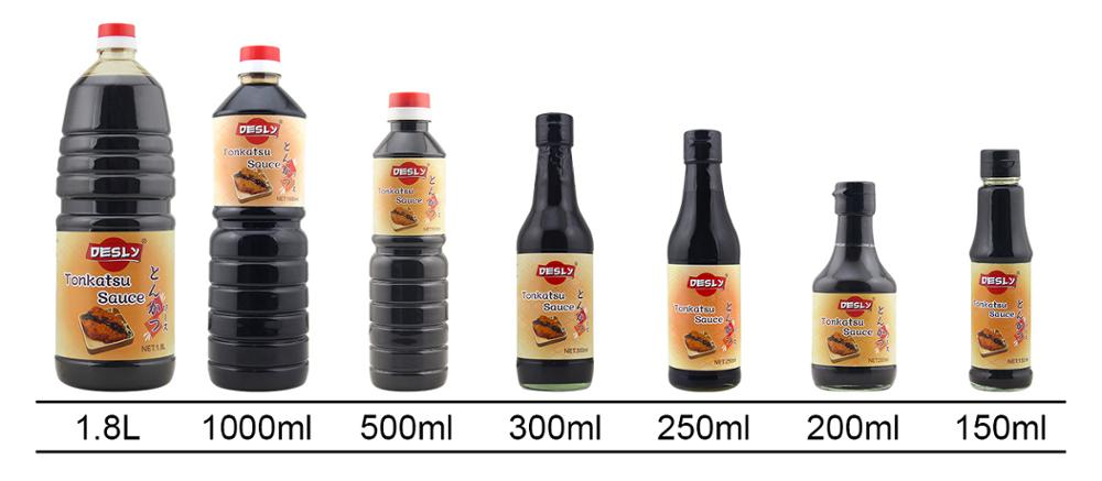 Pet bottle Japanese Tonkatsu sauce thick soy sauce
