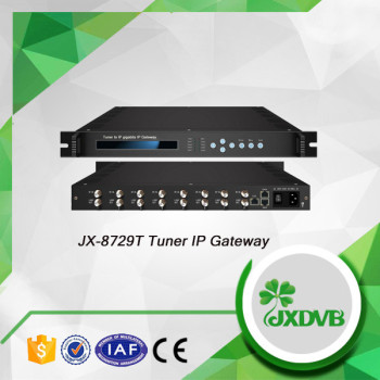 Popular and the newest serviceable 8 channel tuner input dvb to ip gateway