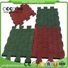 Rubber Flooring For Gym Flat Outdoor Interlocking Rubber Patio Paver Tile