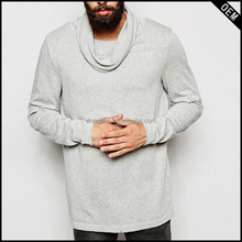 new design sweatshirt 100%cotton high chimney collar sweatshirt with top quality the sweatshirt