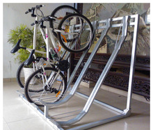 Semi Vertical Bicycle Display Stand Electric Bike Kit Vehicle Metal Parking Rack