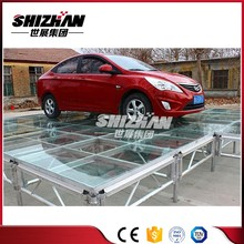 Quickly assemble adjustable stairs portable folding car exhibition stage