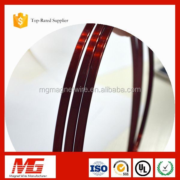 Excellent resistance abrasion thickness 1.55mm flat enameled copper magnet wire