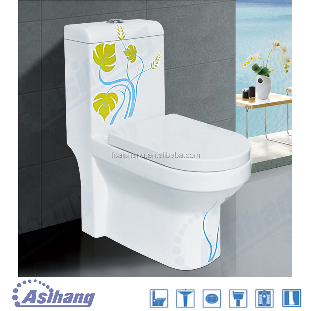 AS2186A chinese one piece wc toilet bowl