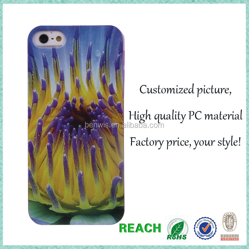 Wholesale hot selling mobile phone accessory printing customized picture case for iphone 5s case