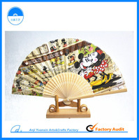 2015 New Products Colorful Hand Fan Paint For Promotion