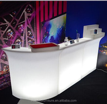 Hot modern led light nightclub Mobile Straight led Bar Counter with RGB color