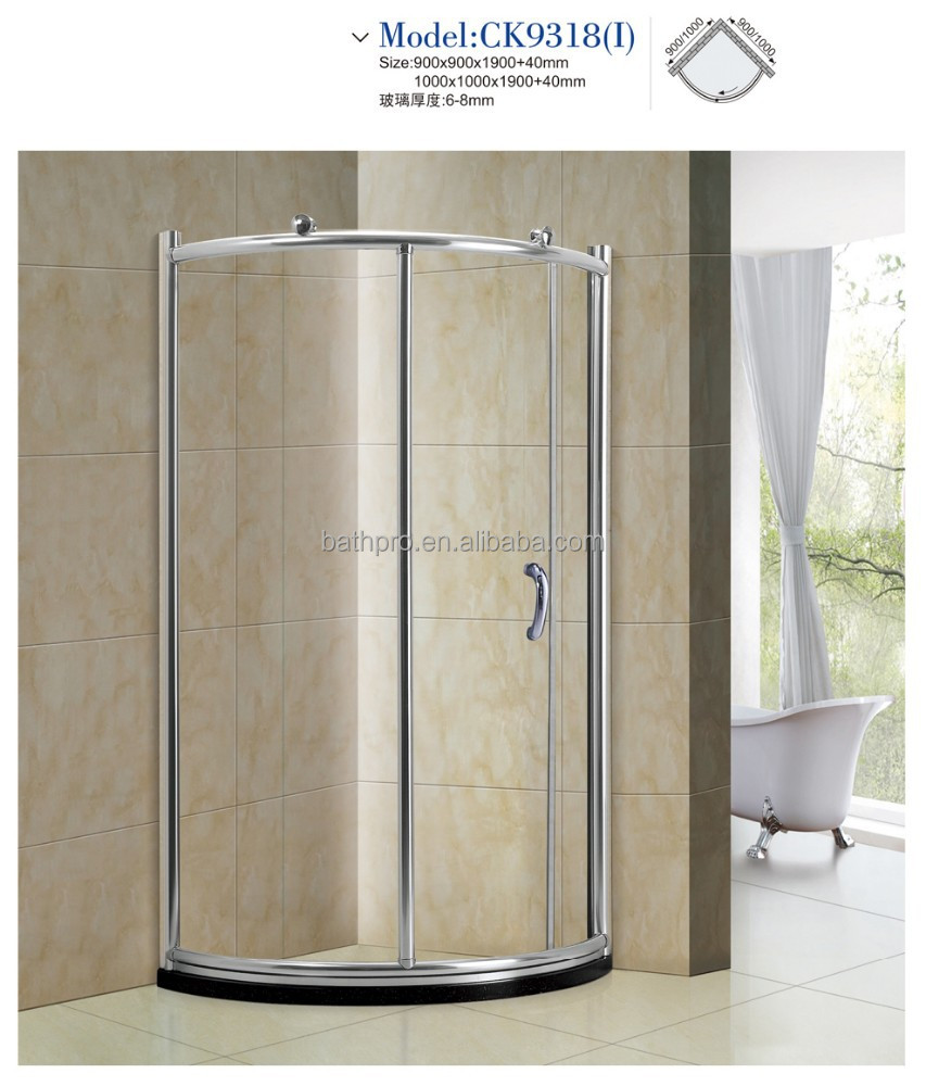 Foshan simple design plastic arcylic shower cabins (CK9318)