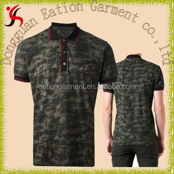 knitted cotton full printing uniform clothing casual fashion drill mens polo shirt
