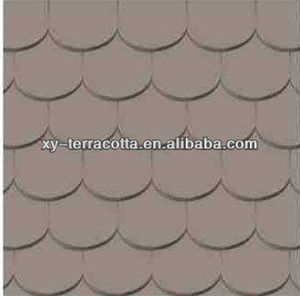 grey matte fish scales shape roof tiles made in China
