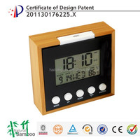 Hairong unique design decorative lcd digital wall clock