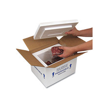 High quality polystyrene foam boxes for perishable foods meet transportation