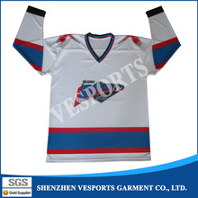 College league hockey jerseys for training