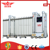 Customized electric sliding folding entrance gate for building main entrance gate J1412
