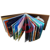 Top quality 2 sides printed case bound hardcover book printing