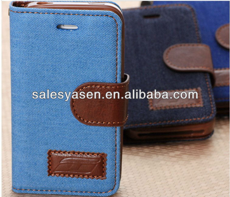 Hot selling leather for iphone 5 case with card slots