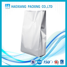 Large silver aluminum foil bag for food packaging side gusset bag