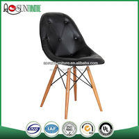 pu chair with wood leg leisure chair