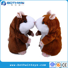 Promotion Gift x hamster stuffed animals with recorder,Plush toy talking hamster