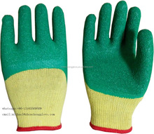 10gauge Cotton Lined Crinkle Latex Coated Industrial Safety Work Glove/Construction Gloves