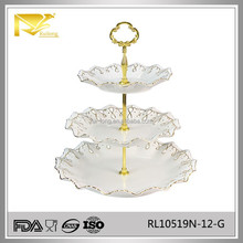 ceramic cake stand, cake stand wedding, 3 tier cake stand for dinnerware