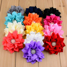 3.55'' Artificial Fabric Flowers On Sale making For Baby Girl Hair Decoration Hot in US