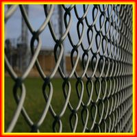 High quality sports ground chain link fence/cheap galvanized pvc coated square wire mesh chain link fence