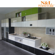 Chinese supplier modern glass aluminum kitchen cabinet