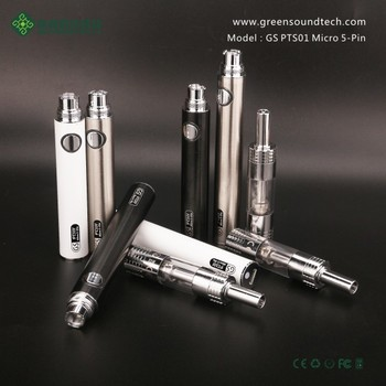 Newest arriving electronic vapor cigarette e-cig micro 5pin passthrough battery--GS PTS01 vapor pen kit with CE/ROHS/FCC