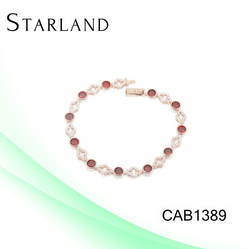XINHUI wholesale 925 sterling silver garnet stone tennis bracelet factory price