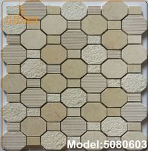 Pure white river shell mosaic tile
