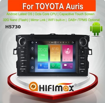 Hifimax Android 8.0 Car DVD Player For Toyota Auris 2007 Touch Screen Car Radio GPS Navigation