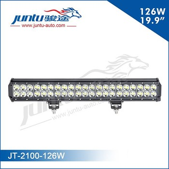 Hot sale 3w dual led light bar, 12 volt led light bar, 126w 20 inch led light bar for SUV, Pickup truck