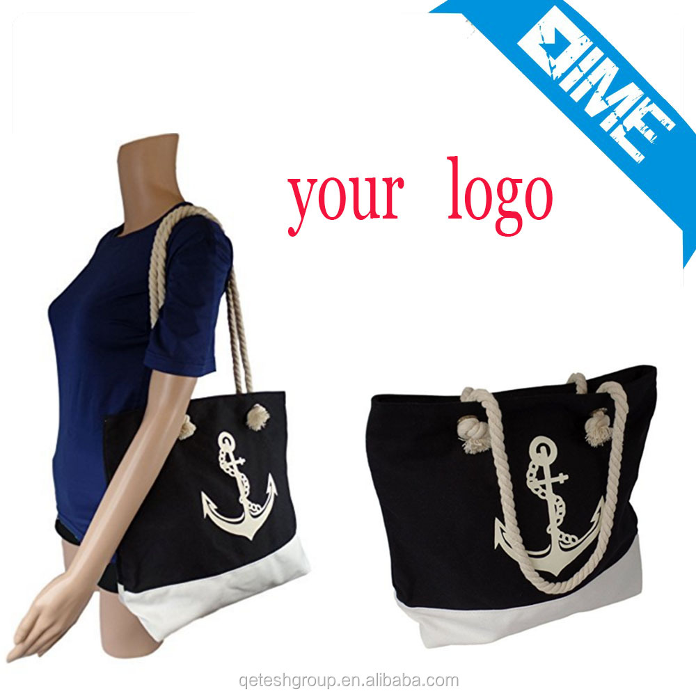 Heavy-duty OEM Rope Handle Cotton Bag Canvas Tote Bag