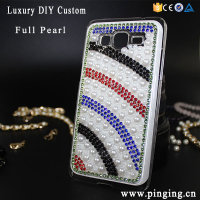Full Pearl DIY Custom Rainbow Design Bling Case Cover For Samsung Galaxy J5 J7 J1 J2 J3 2016 Hard Pc Phone Case