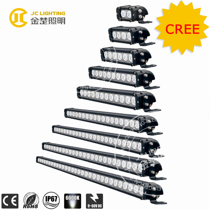 20w/40w/60w/100w/120w/180w/240w/260w/300w Single Row Wholesale LED Light Bars for Trucks, Off road Cree 50 Inch LED Light Bar