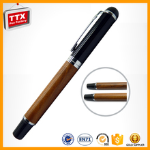 Wooden color tactical pen with ballpoint pen refill for sale