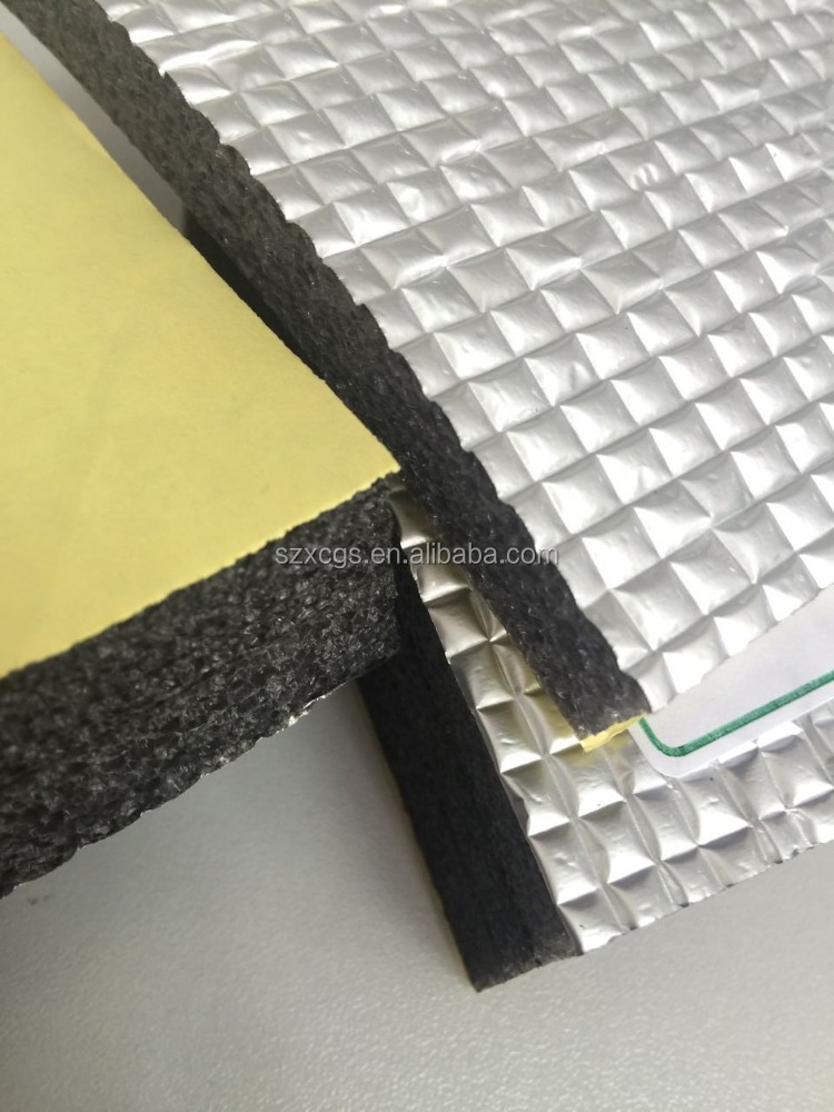 Chilled water pipe insulation self adhesive foam fireproof insulation