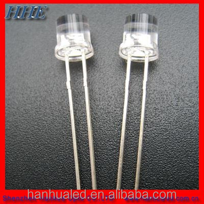 Free Samples High quality round/oval/flat top/straw hat white 5mm High intensity led diode