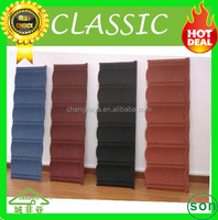 roof material natural colorful stone coated steel roofing tile