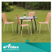 Luxury chain dining room set metal garden tables and chairs for sale